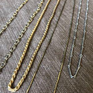 Set of 4 Vintage Chains
